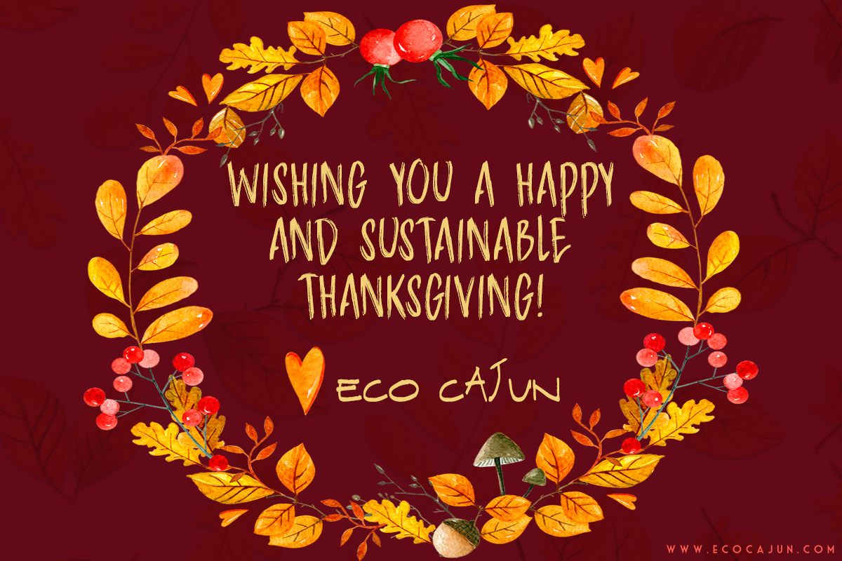 Happy thanksgiving from eco cajun eco cajun every year i say im thankful for all of you who read and follow along and most importantly follow eco friendly principles in your own life kristyandbryce Choice Image