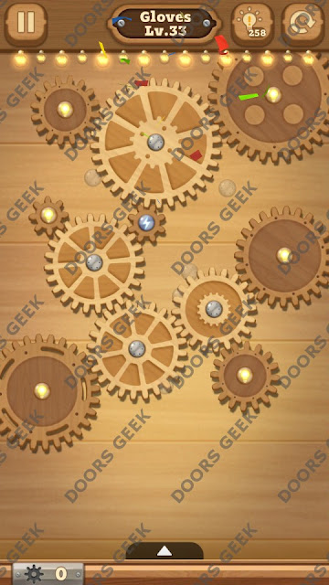 Fix it: Gear Puzzle [Gloves] Level 33 Solution, Cheats, Walkthrough for Android, iPhone, iPad and iPod