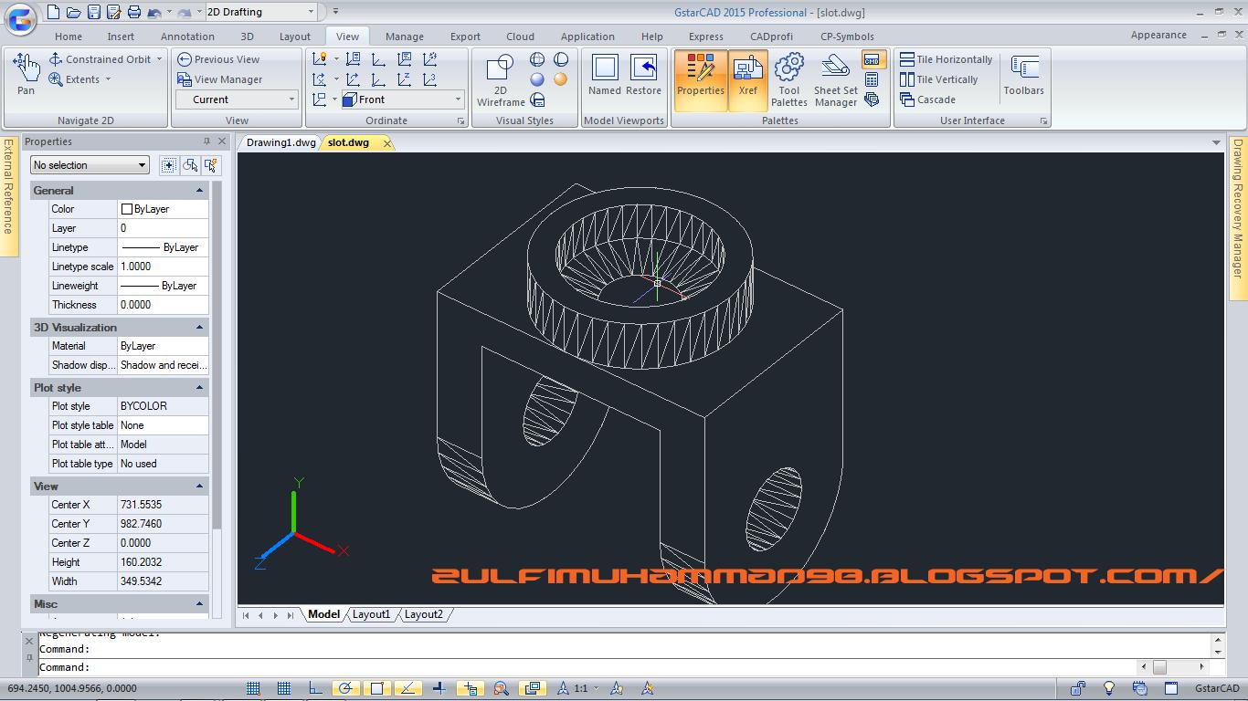 Cara Membuat Object 3D dalam AutoCAD - Tutorial CAD Indonesia