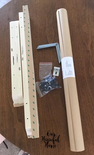 canvas wooden frame L brackets screws hanging hardware
