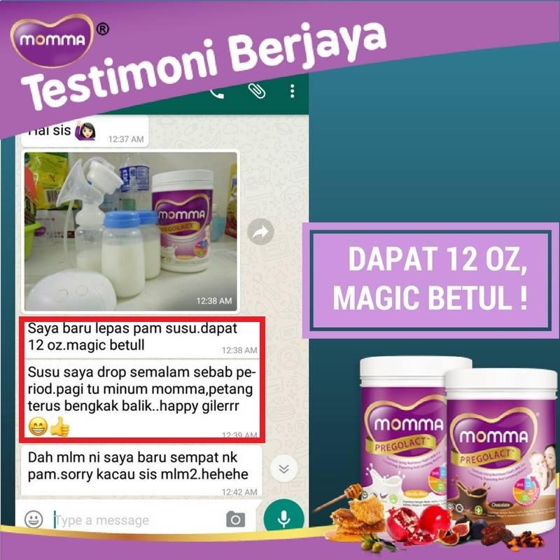 Testimoni Momma Pregolact,milk booster buat ibu hamil & menyusu