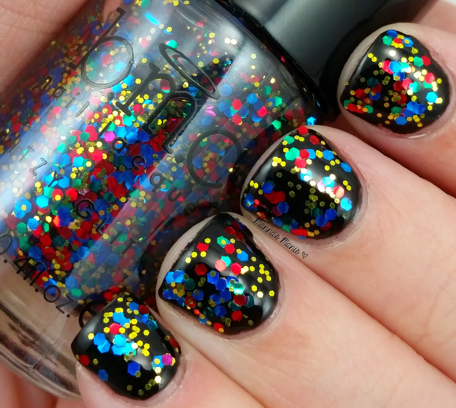 BMC Sin City, a multicolored glitter nail polish
