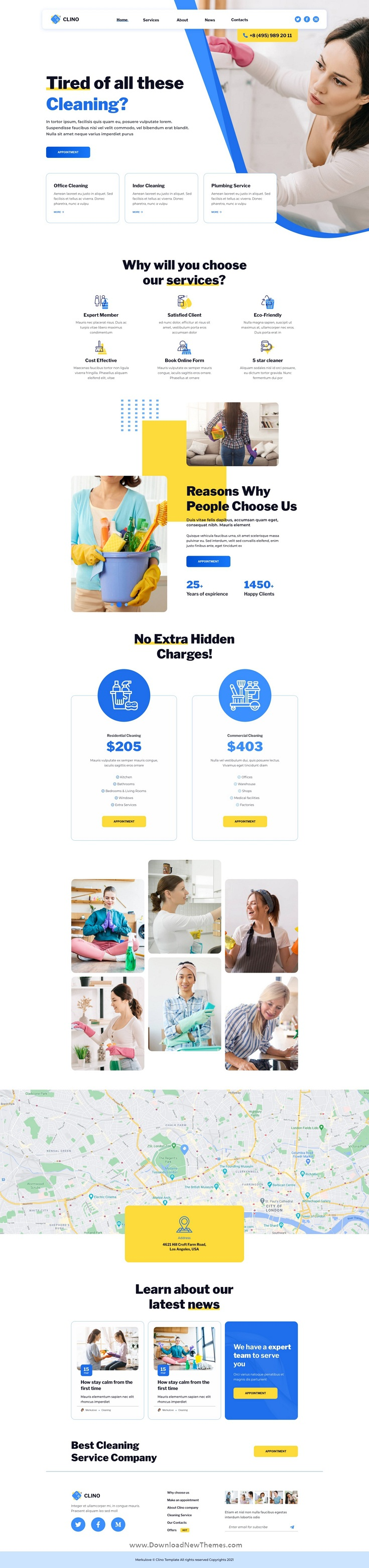 Clino Cleaning PSD Template
