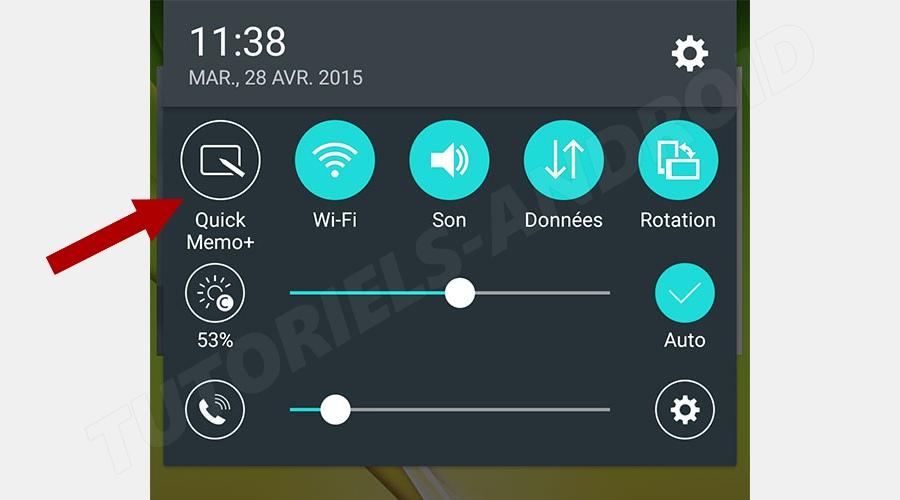 LG : Capturer écran avec QuickMemo+
