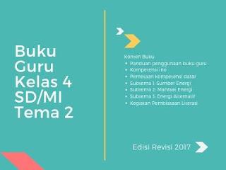 Buku Guru Kelas 4 SD/MI Tema 2: Selalu Berhemat Energi Edisi Revisi 2017