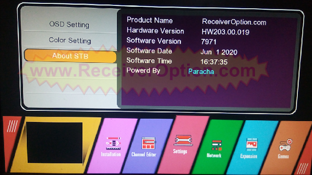 GX6605S HW203.00.019 NEW SOFTWARE WITH U38 MENU 1 JUNE 2020