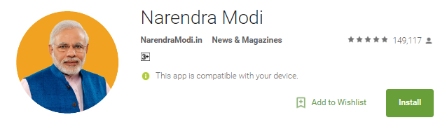 Original Narendra Modi apps