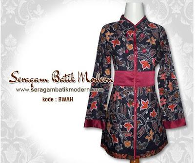 Model Seragam Baju Batik Guru Muslimah