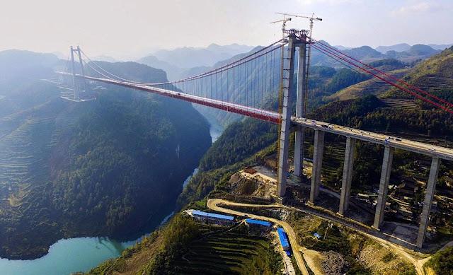 Qingshuihe River Bridge - Segunda ponte mais alta do mundo