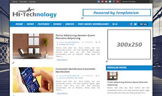 Hi-Tech Technology Simple Blogger Template