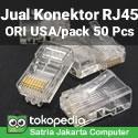 Jual Konektor Kabel LAN RJ45 AMP Original USA