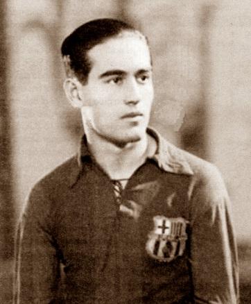 El fútbolista del F.C. Barcelona Esteve Pedrol Albareda