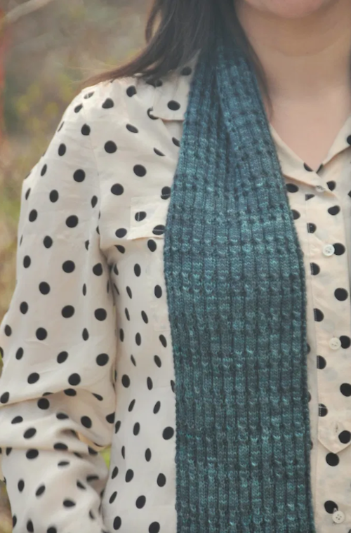 DIY Knit Tender Scarf and Free Pattern