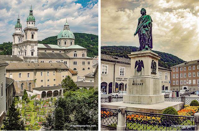 Estátua de Mozart em Salzburgo