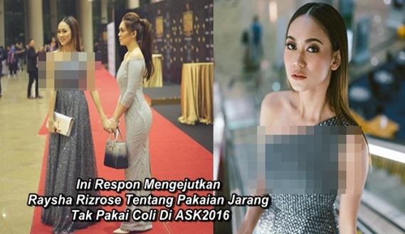 Ini Respon Mengejutkan Raysha Rizrose Tentang Pakaian Jarang, Tak Pakai Baju Dalam Di ASK2016