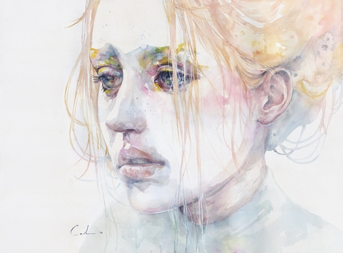 07-Imaginary-Illness-Silvia-Pelissero-agnes-cecile-Watercolor-and-Oil-Paintings-Fading-and-Appearing-www-designstack-co