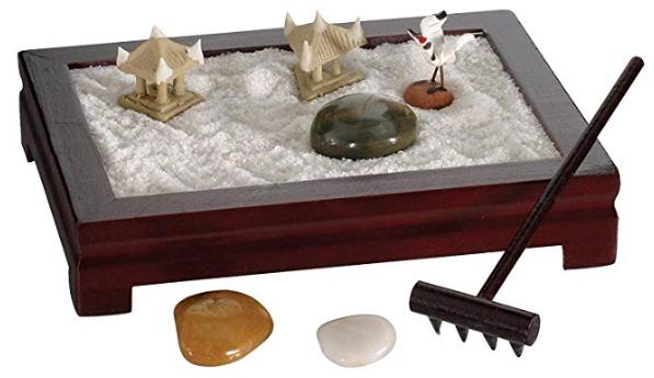 best stress relief gifts:Toysmith Mini Zen Garden