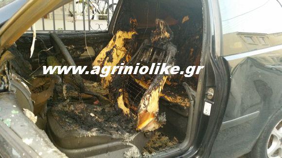 Αποτέλεσμα εικόνας για agriniolike έκαψαν όχημα