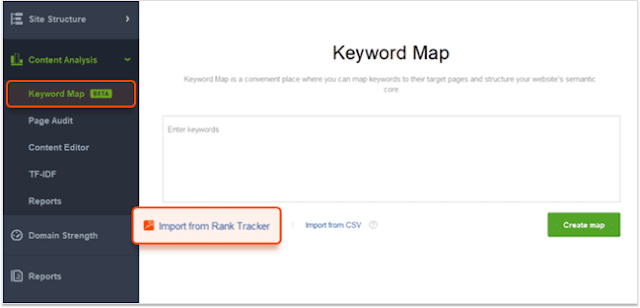 Keyword Map