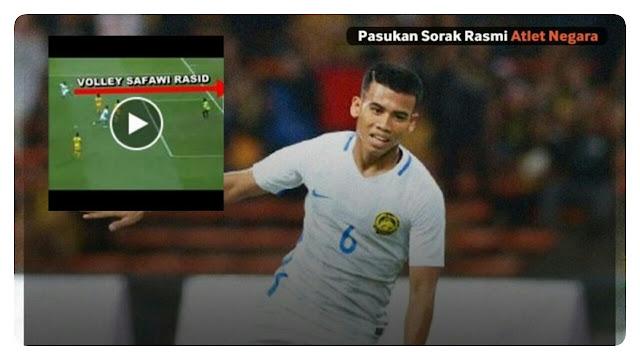 Gol Volley Berkelas Dunia Safawi Rasid, Penjaga Gol Brunei Terpaku!