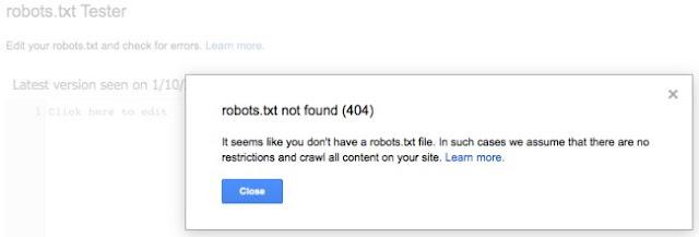 error robots.txt