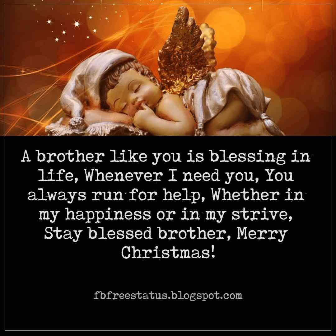 Merry Christmas Wishes For Brother