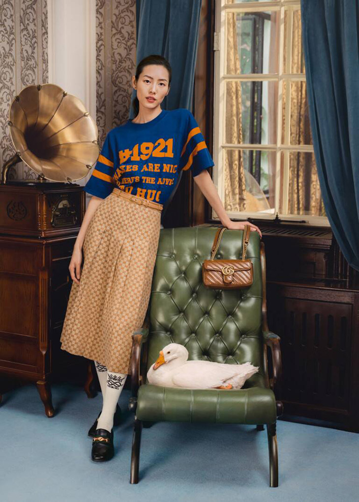 Luxury house Gucci enlists Chinese supermodel Liu Wen to star in their latest GUCCI BELOVED 2021 campaign