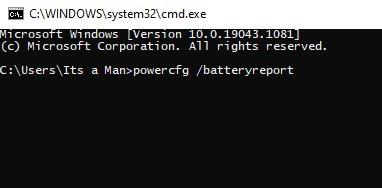 Cek Kapasitas Battery Report