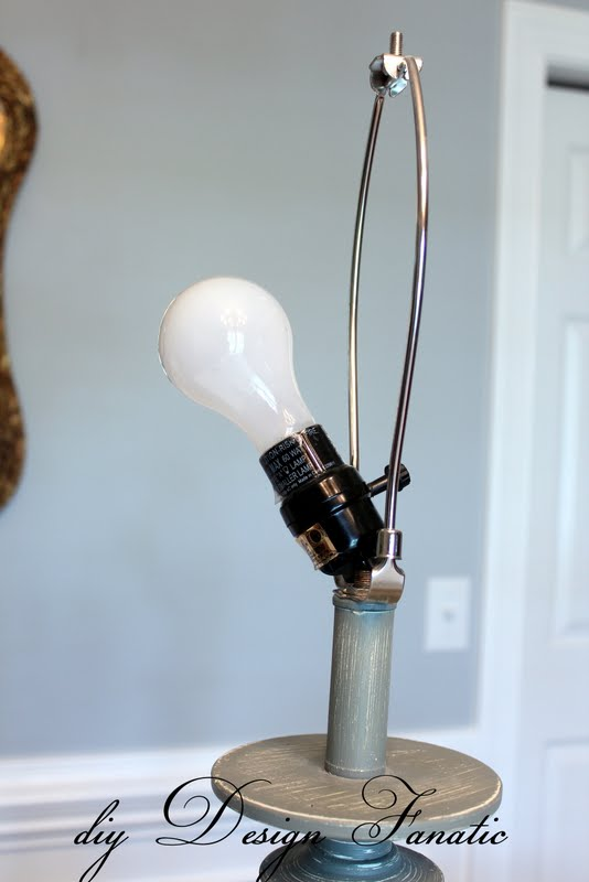 The lamp socket broke (the plastic thing that holds in the ...