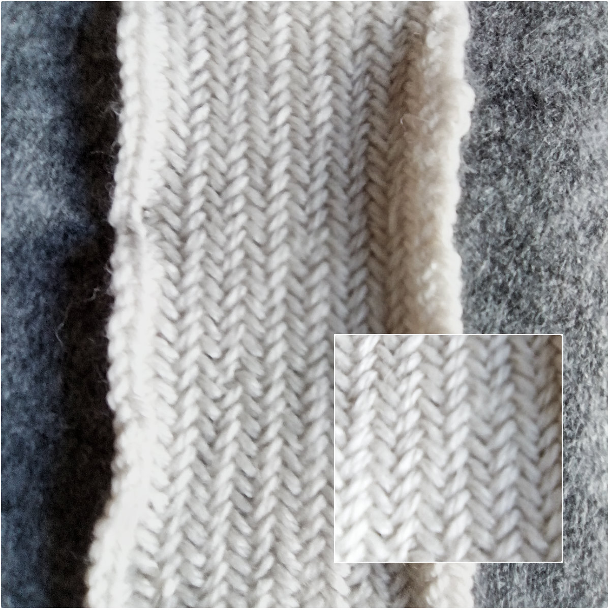 gk kreativ: Herringbone pattern / Fischgrätmuster stricken