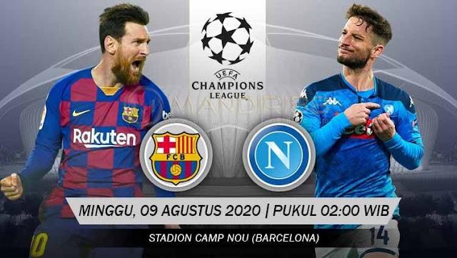 Prediksi Barcelona Vs Napoli, Minggu 09 Agustus 2020 Pukul 02.00 WIB @ SCTV