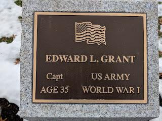 The Edward L Grant granite marker along the Veterans Walkway photo taken in Nov 2018