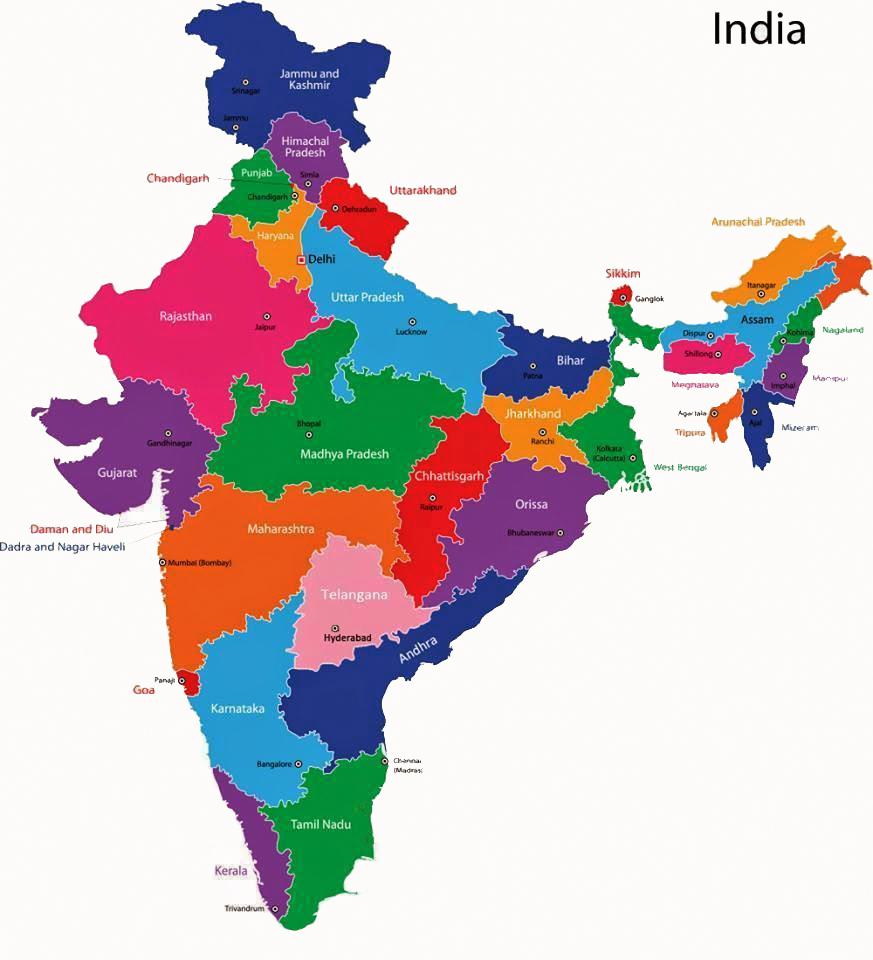 INDIA: India Map   Latest