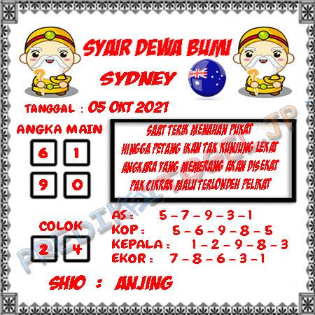 Syair Dewa Bumi Sidney Hari Ini 05-10-2021