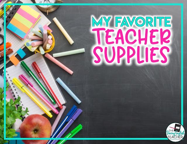 My Favorite Teacher Supplies