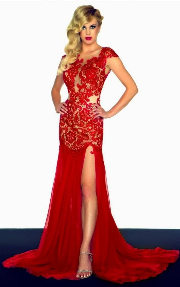 Vestidos de noche rojos 2013