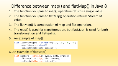 Difference between Map vs FlatMap in Java 8