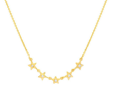 FIVE-STAR-NECKLACE maria pascual-collar-estrellas-plata-oro-circonita-circonite-jewelry