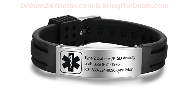 Personalized Medical Alert Bracelets 50% off