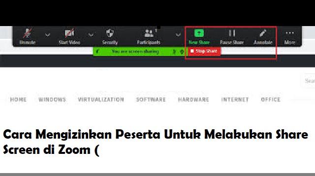 Cara Share Screen Zoom Di PC