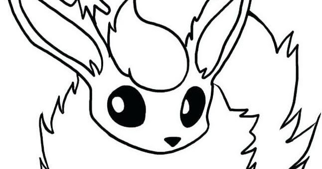 Pokemon Flareon Coloring Pages Printable Free Pokemon Coloring Pages
