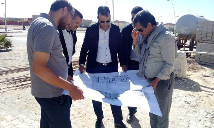 أحمد خيار يتفقد مجموعة من الأوراش المفتوحة ببوجدور