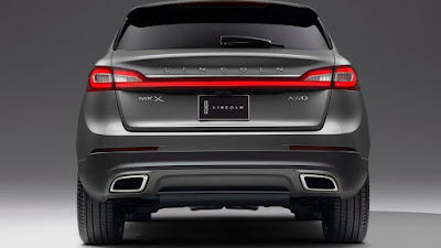 2016 Lincoln MKX SUV Crossover back view