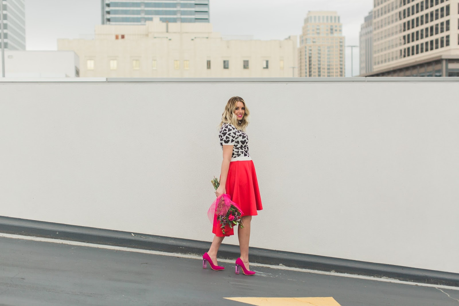 Valentine's Day Outfit, Pink Heels, Utah Fashion Blogger