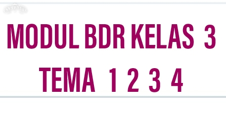 Modul BDR Kelas 3 Tema 1 2 3 4 5