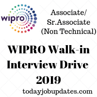 WIPRO Walk-in Interview Drive 2019