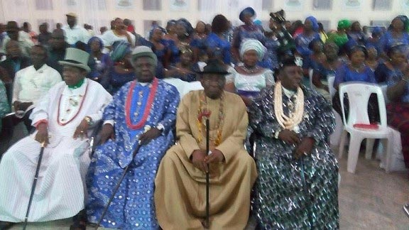 Photos: GEJ And Wife, Others At Burial Ceremony Of Alamieyeseigha
