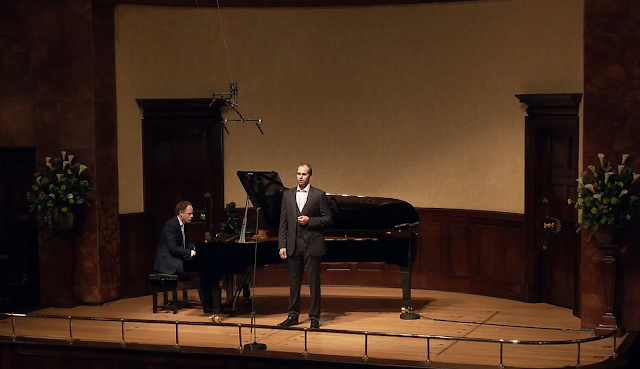 Joseph Middleton and Ashley Riches at the Wigmore Hall (photo taken from live stream)