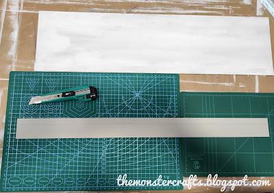 Cutting binding cardboard