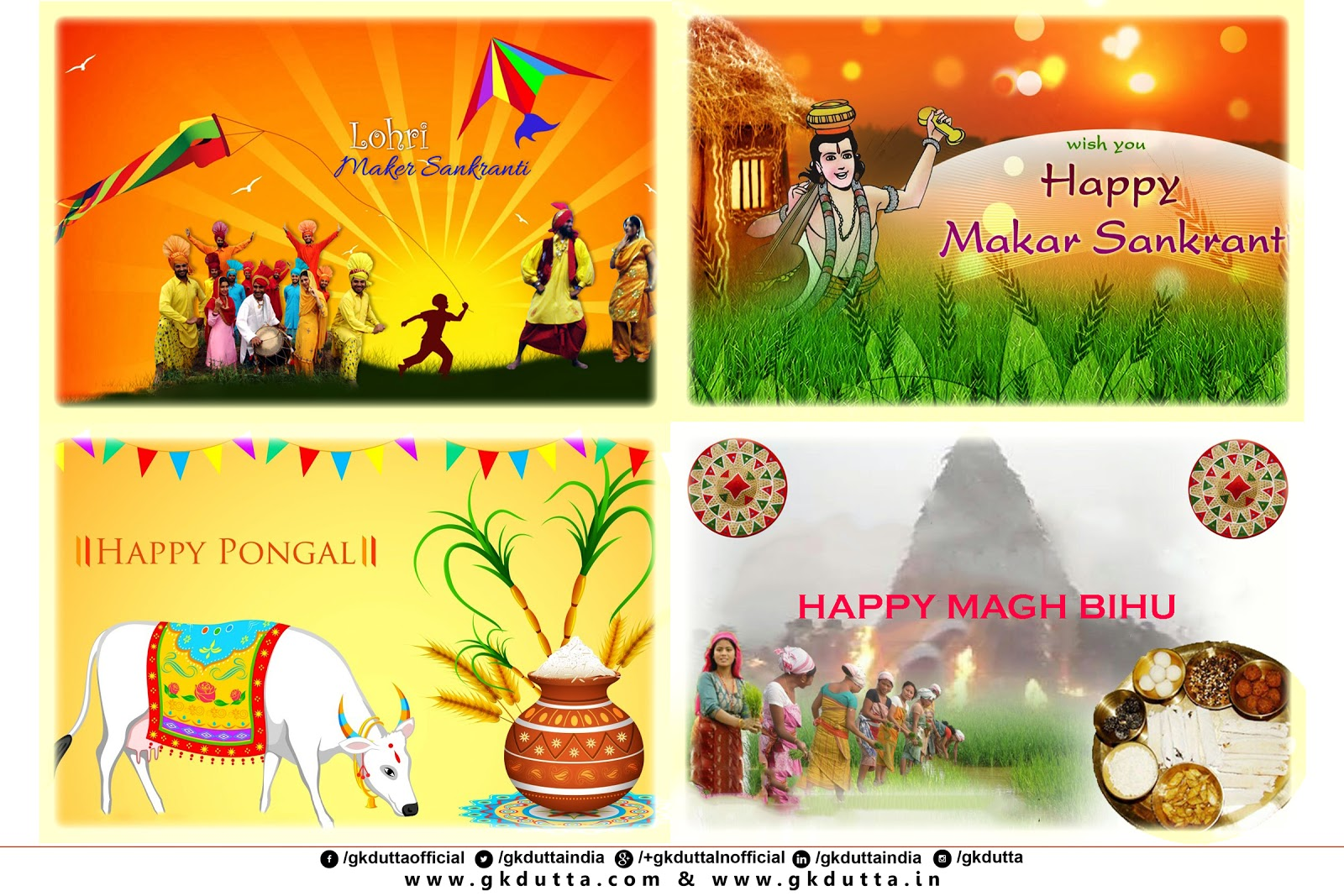 Greetings On The Eve Of Lohri Makar Sankranti Pongal And Magh Bihu